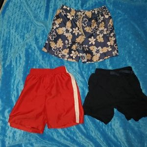Toddler shorts.. 2 pairs polyester and 1 swim